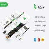 قالب Kitzen – تمپلیت مدرن PSD