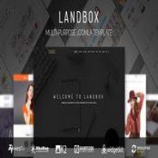 قالب چندمنظوره Landbox برای جوملا