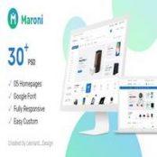 قالب لایه باز Maroni – فایل PSD قالب فروشگاه اینترنتی