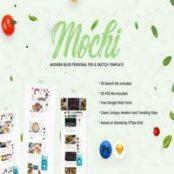 قالب Mochi – طرح لایه باز وبلاگ شخصی
