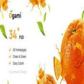 قالب PSD نانوایی و سوپرمارکت Ogami