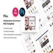 قالب PSD فروشگاهی Pika