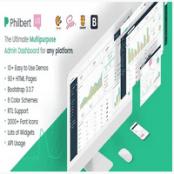 قالب Philbert – قالب مدیریت HTML و UI Kit