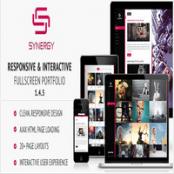 قالب Synergy – قالب HTML نمونه کار و پورتفولیو