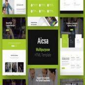 قالب HTML چندمنظوره Aicsa