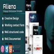 قالب HTML تک صفحه چندمنظوره Alieno