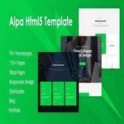 قالب HTML چندمنظوره Alpa