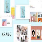قالب Arabo – قالب اچ تی ام ال نمونه کار خلاقانه