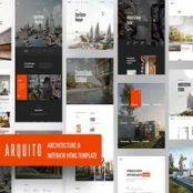 قالب Arquito – قالب HTML معماری و دکوراسیون داخلی