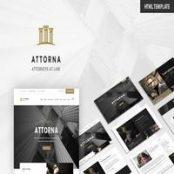 قالب Attorna – قالب HTML سایت وکالت