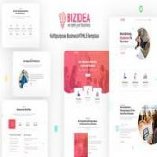 قالب HTML شرکتی Bizidea
