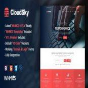 قالب WHMCS و اچ تی ام ال CloudSky