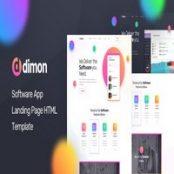 قالب HTML صفحه فرود Dimon