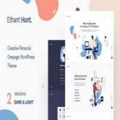 قالب شخصی تک صفحه Ethant Hunt برای وردپرس