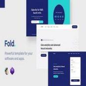 قالب صفحه فرود اپلیکیشن و نرم افزار Fold