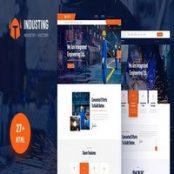 قالب HTML5 صنعتی Industing