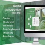 قالب HTML هوشمند سازی منزل Ingenious