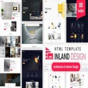 قالب اچ تی ام ال Inland Design