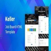 قالب HTML آگهی استخدام Keller