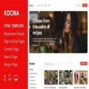 قالب HTML5 دستور آشپزی Kocina