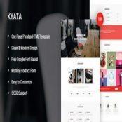 قالب HTML تک صفحه پارالاکس Kyata