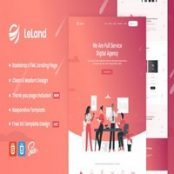 قالب HTML ایزومتریک شرکتی LeLand