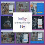 قالب HTML چندمنظوره LeadPage