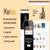 قالب فروشگاهی HTML لوازم حیوانات خانگی Marten