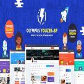 قالب شبکه اجتماعی و بادی پرس Olympus