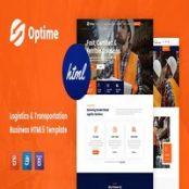 قالب HTML5 حمل و نقل و باربری Optime