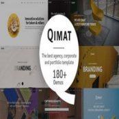 قالب HTML چندمنظوره QIMAT