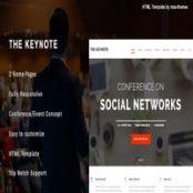 قالب HTML رویداد و کنفرانس The Keynote
