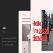 قالب HTML پورتفولیو شخصی Ukko