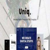 قالب HTML چندمنظوره Uniq