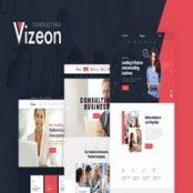 قالب HTML شرکتی Vizeon