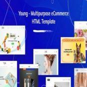 قالب HTML چندمنظوره Young