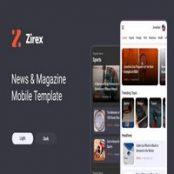 قالب مجله ای و خبری موبایل Zirex
