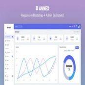 قالب Annex – قالب HTML مدیریت بوت استرپ ۴