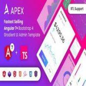 قالب مدیریتی Apex – Angular 7+ & Bootstrap 4 HTML Admin Template
