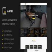 قالب Arch Decor – قالب HTML دکوراسیون داخلی