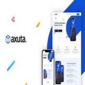 قالب Axuta – صفحه فرود HTML