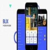 قالب Blix – قالب HTML موبایل