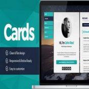 قالب Cards – قالب رزومه و نمونه کار HTML
