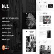 قالب HTML تک صفحه Diux