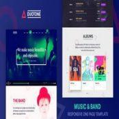 قالب HTML سایت موزیک Duotone
