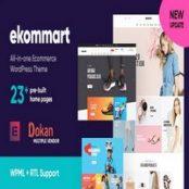 قالب فروشگاهی راست چین ekommart برای وردپرس