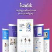 قالب HTML صفحه فرود Essentials