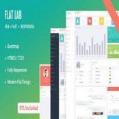 قالب بوت استرپ ۴ مدیریتی FlatLab
