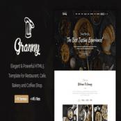 قالب Granny – قالب HTML رستوران، کافی شاپ و فست فود