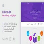 قالب Hostbox – قالب WHMCS و صفحه فرود HTML5